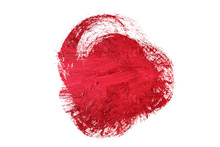 Lipstick Smudge Or Red Color Paint Heart Shape On White Background 3d Illustration