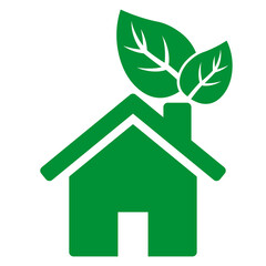 ngi1222 NewGraphicIcon ngi - eco friendly house / abstract logo - real estate - ecology / house with leafs design . nature / green home icon . simple illustration - isolated background - xxl g10478