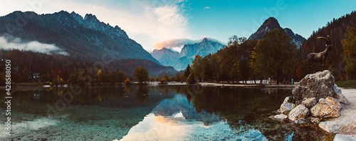 Jasna lake, Slovenia - fototapety na wymiar