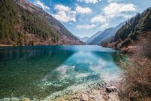 Beautiful Shot Of Rhinoceros Lake, Jiuzhaigou Valley