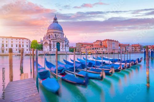 Tela Grand Canal in Venice, Italy with Santa Maria della Salute Basilica