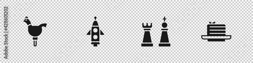 Photo Set Cockerel lollipop, Rocket ship, Chess and Medovik icon