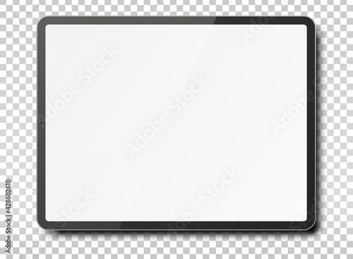 Tablet pc computer with blank screen. - fototapety na wymiar