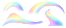 Unicorn Colorful Background, Rainbow Pattern, Glitter Vector Texture, Pastel Fantase Design, Universe Holographic Style.