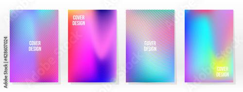 Minimal Poster. Pastel Soft. Rainbow Gradient Set - fototapety na wymiar