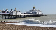 Eastbourne Pier And Waves