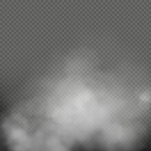 Realistic Fog Smoke Vape Cloud Effect Isolated Transparent Background Shapes Powder Cigarette Waves Wind.