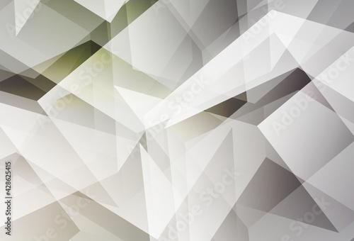 Obraz Light Gray vector abstract polygonal pattern. - fototapety do salonu