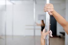 Women On Pole Dance Training, Dancing In Class