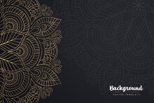 Vector Islamic Gold Background With Mandala