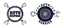 Garage Badge Vector Collection Set
