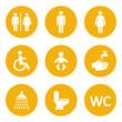 zestaw ikon do wc