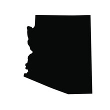 Arizona Map Black   State Border   United States   US America