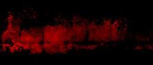 Dark Red Texture Design In Vignette Banner In Splash On Black Background, Grunge Background Template