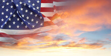 U.S.flag And Sky