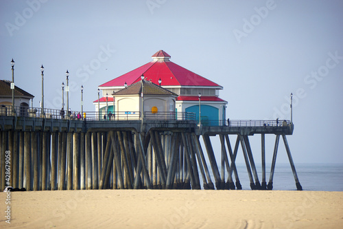 Huntington Beach pier in the morning #428679058