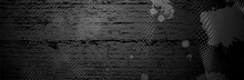 Black Grunge Background. Dot Pattern. Dirty Metal Surface. Dark Texture. Vector Illustration