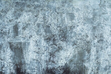 Background Texture. Aged Concrete Surface With White Paint Residues. Top View. Copy Space