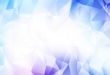 Light Pink, Blue Vector Abstract Polygonal Pattern.