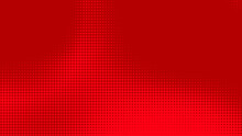 Dots Halftone Red Color Pattern Gradient Texture With Technology Digital Background. Dots Pop Art Comics With Summer Background.