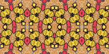 Colorful African Fabric – Seamless Pattern, Cotton, Photo