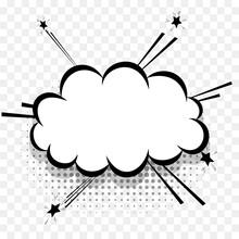 Comics Speech Bubble For Text Pop Art Design. White Empty Dialog Cloud For Text Message Halftone Shadow. Comics Sketch Explosion Splash Comic Book Text Style. Wow Effect Cartoon Vector Elements