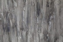 Abstract Grey Background, Pattern In Elegant Fancy Design. Close Up Of Texture Paint White And Gray Brush Strokes Of Acrylic Paint.