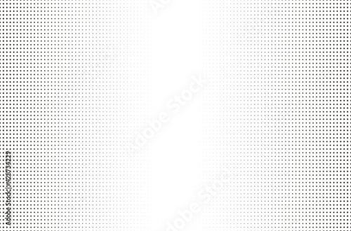 Halftone dotted background. Board with black grid on a white background. - fototapety na wymiar