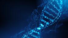 DNA Molecule Spiral. 3d Rendering