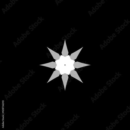 Fotografija Ninja stars flat icon