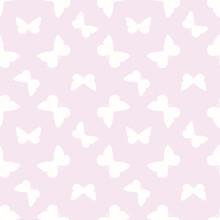 Vector Butterfly Cute Seamless Purple Pattern Design Background
