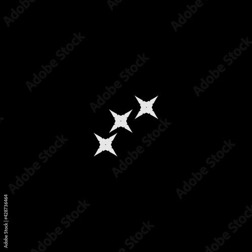Ninja stars flat icon Fototapeta