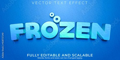 Editable text effect, frozen ice text style - fototapety na wymiar