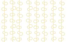 ひょうたん干しのシームレスなパターンデザイン、白地にベージュ