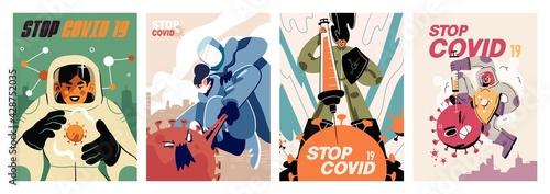 Obraz na plátně Fight with Coronavirus concept