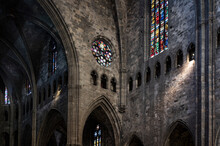 Inside Detail Of The Cathedral Of Girona