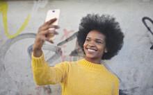 Black Girl Taking A Selfie