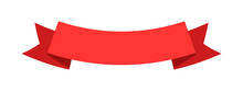 Curved Award Banner Ribbon Isolated On White