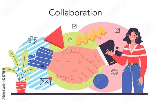 Tablou Canvas Collaboration concept