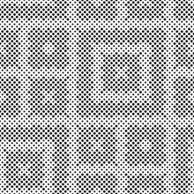 Abstract Black White Background With Small Circles.