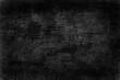 Leinwandbild Motiv black old wall cracked concrete background / abstract black texture, vintage old background