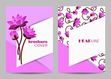 Modern Vector Templates For Brochure Cover In A4