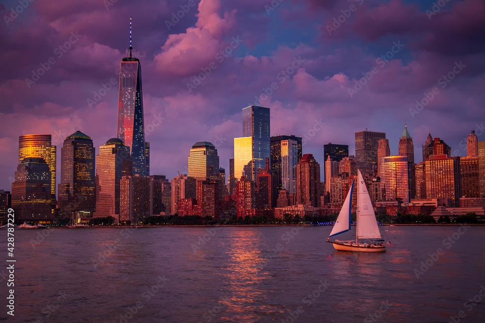 Fototapeta Widok na Manhattan wieczór po burzy