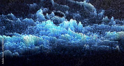 Digital Landscape. Abstract background. - fototapety na wymiar