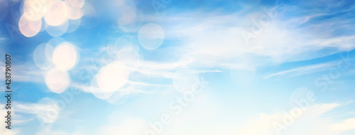Clouds bokeh abstract bright summer wallpaper nature sky - fototapety na wymiar