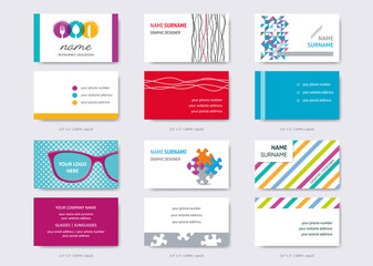 Vector business card design templates big set