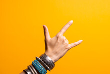 Hand Gestures. Thumbs Up, That's A Cool Gesture Of The Rocker.