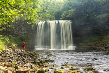 Sgwd Yr Eira Waterfall And River, Brecon Beacons National Park