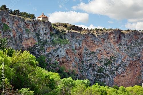 Canvas Print Cañon del Pedra. Aragón. España. Europa