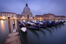 Venice, Canal Grande And Chiesa Santa Maria Della Salute, Italy